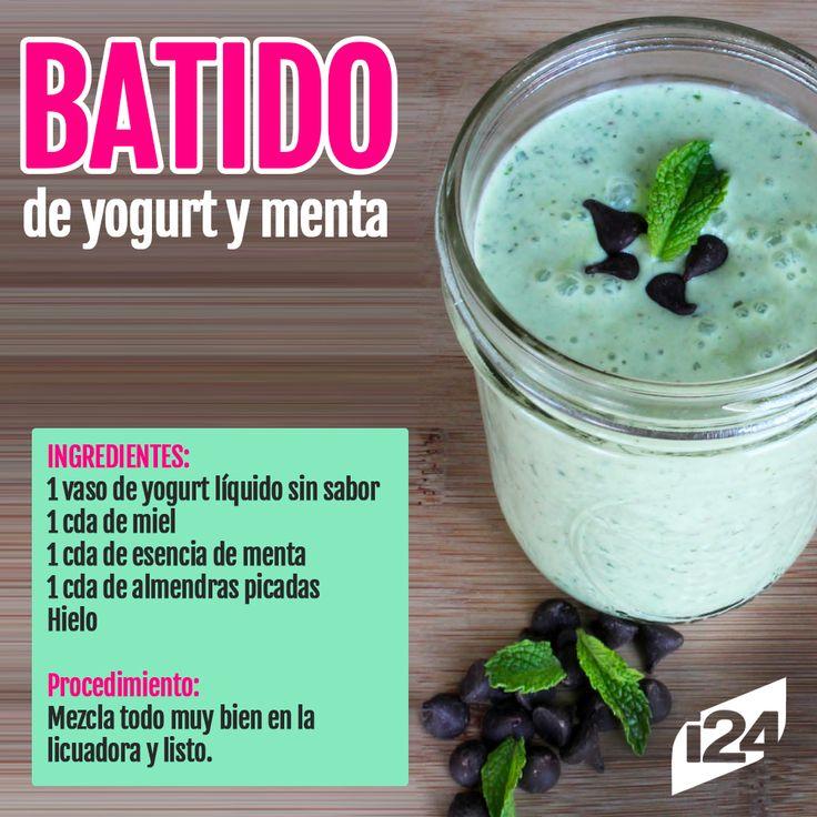 Delicioso y refrescante para comenzar la mañana #Batido #Jugo #Detox #Receta #Light #adelgazar