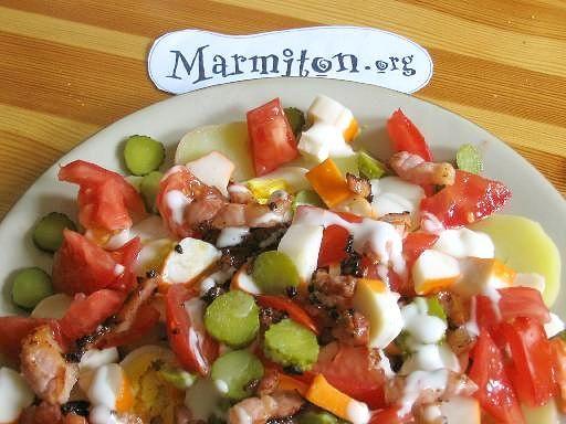 Recette Salade composée aux pommes de terre et surimi  cote food ...