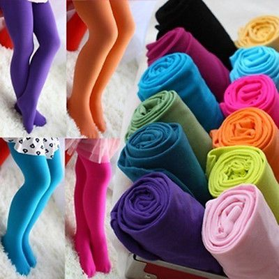 Hot New Fashion Girls Colors Kids Ballet Tights Pantyhose Stockings Dance Socks