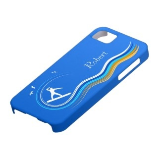 Surf's Up Surfer Surfing iPhone 5 Case Cover by sunnymars of SunnyMarsDesigns.  Click through to see this design or more cases.