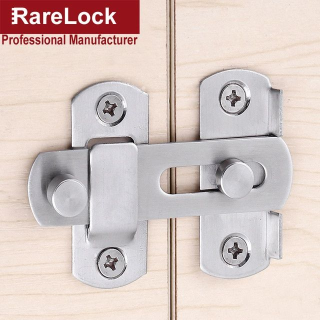 Rarelock Ms93 Latch Dead Bolts Hasp Lock For Sliding Door Balcony Window Cabinet Women Dress Fitting Room Bathroom Barn F Review Deadbolt Sliding Doors Balcony Doors