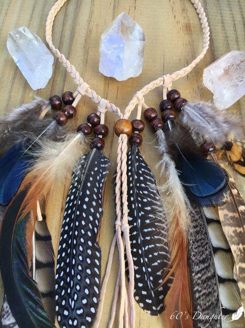 Pocahontas Headpiece / / Bohemiam Feder Kopfschmuck / / Feder