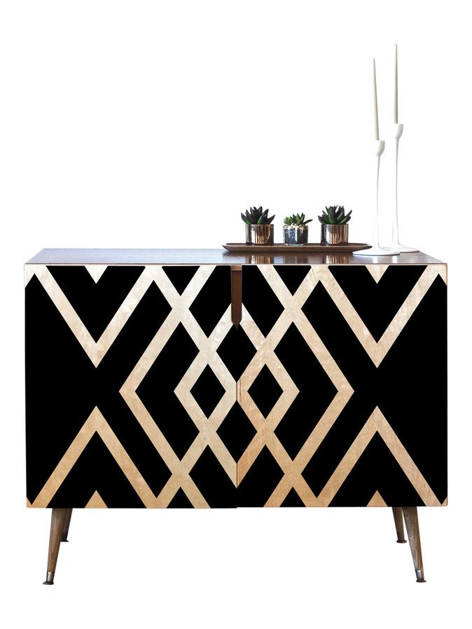 Inbetween Credenza by Deny Designs on GILT.com and on sale! Was €1,185.12 ......now €792.85.Seriously if I had the money I would buy this Art Deco inspired, or actually it could be African art inspired, either way it´s totally fab with it´s decadent gold and black geometric finish! They only ship to the US though folks. #DenyDesigns #ArtDecoInspired #BlackGoldDiamondGeometricSideboard