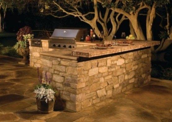 29 Amazing Outdoor Barbeque Areas: 29 Amazing Outdoor Barbeque Areas With Stone Grill And Outdoor Kitchen Area