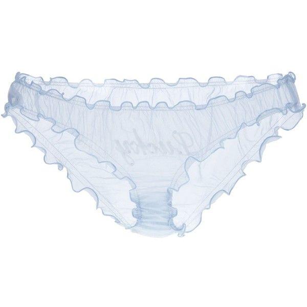 AUSTIQUE AUSTIQUE BESPAKE KNICKERS BLUE SILK - ($83) ❤ liked on Polyvore featuring intimates, panties, lingerie, underwear, underwear & nightwear, women, wedding lingerie, blue lingerie, silk panties and silk knickers