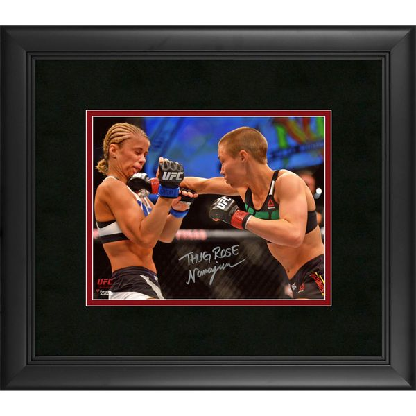 "Rose Namajunas Ultimate Fighting Championship Fanatics Authentic Framed Autographed 8"" x 10"" Punching Paige VanZant Photograph - $89.99"