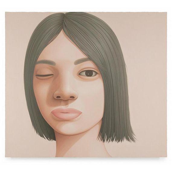 Takanobu Kobayashi, Portrait-opend one eye