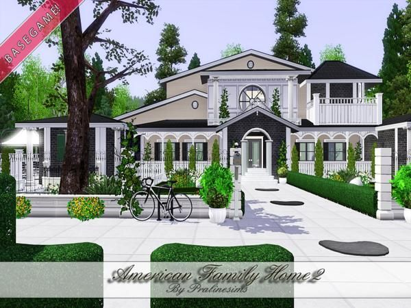 American Family Home 2 by Pralinesims   Sims 3 Downloads CC Caboodle. 24 best Sims 3 Houses images on Pinterest    salem s lot  Houses