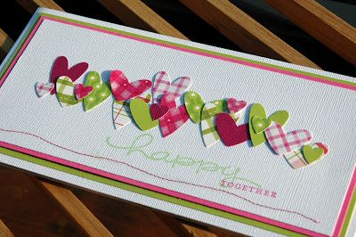 Card with multi sized hearts