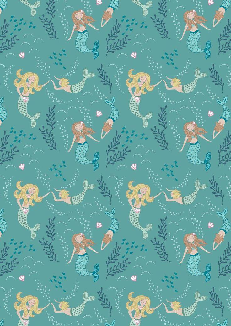 A138.2 Mermaids on mid blue