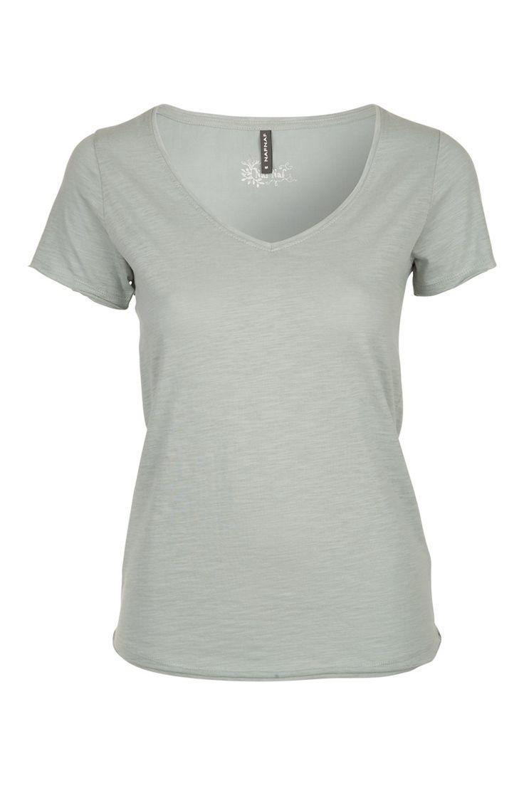T-shirt chiné encolure V femme - Tops - femme - NAF NAF