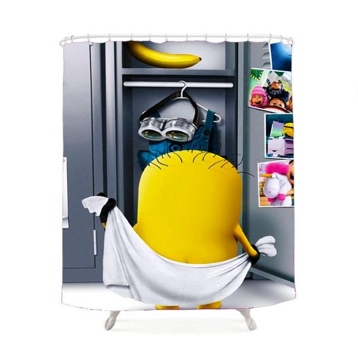 Minion Locker Room Shower Curtain