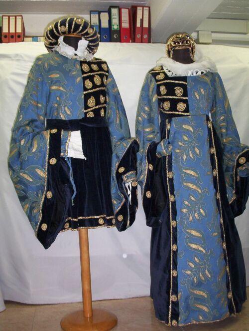 Coppia in blu e azzurro