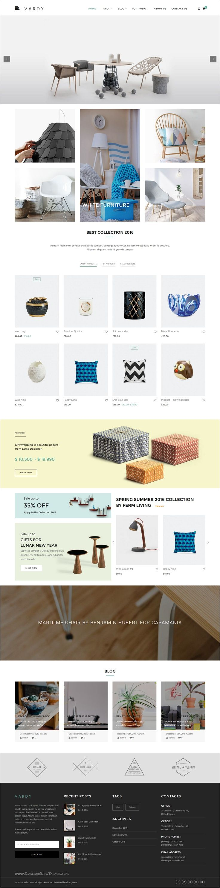 Vardy is a creative responsive #WordPress template for #decor #furniture shop eCommerce website with 4 multipurpose homepage layouts download now➯ https://themeforest.net/item/vardy-creative-and-ecommerce-wordpress-template/16702834?ref=Datasata