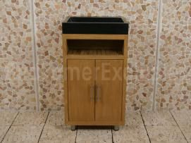 Badkamermeubel Raung Cabinet Teakhout 50 cm. terrazzo