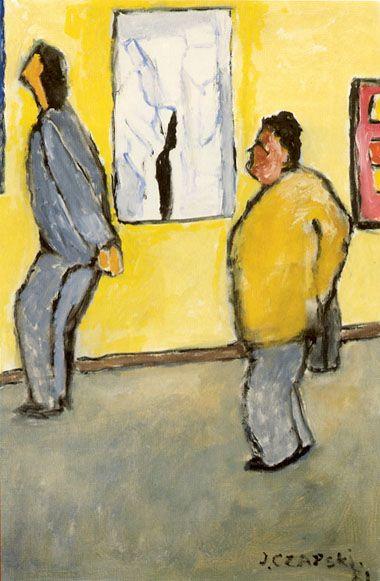 J. Czapski, La mostra, 1981, olio su tela, Museo dell'Arcidiocesi di Varsavia