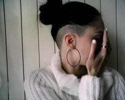 Pretty undercut, long hair <3