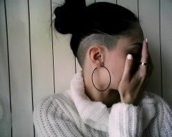 Pretty undercut, long hair <3                                                                                                                                                     More