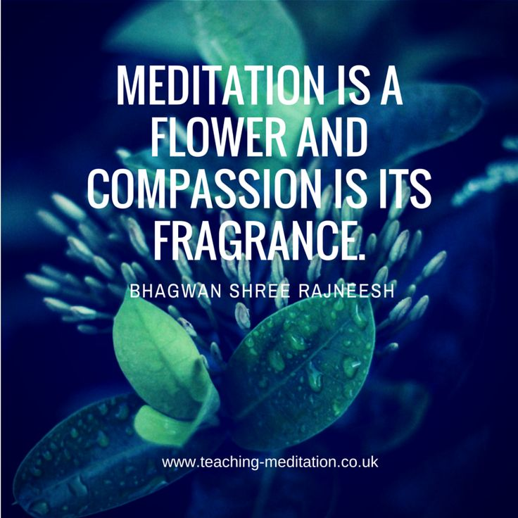 Meditation = compassion that can bloom Bhagwan Shree Rajneesh