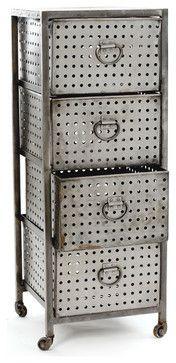 Industrial Bin Unit - industrial - storage boxes - Indeed Decor