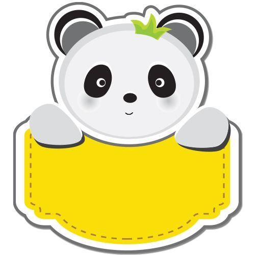 Autocolant (sticker) auto sau pentru orice suprafata neteda (geam, oglinda, aparatura electrocasnica) personalizabil ce reprezinta un adorabil ursulet panda. Introduceti ce text doriti.