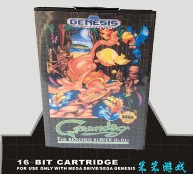 Sega 16bit MD карточные игры с Коробкой: Greendog-Берег Серфер Чувак Для 16 бит Sega MegaDrive Genesis игровой консоли