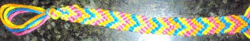 finished bracelet step How to Make V Shaped Arrows Friendship Bracelets Illustrated Instructions