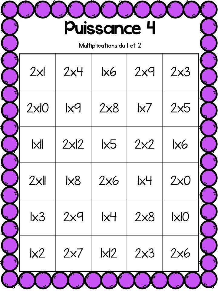 Beautiful of table de multiplication jeu table et chaises for Table de multiplication