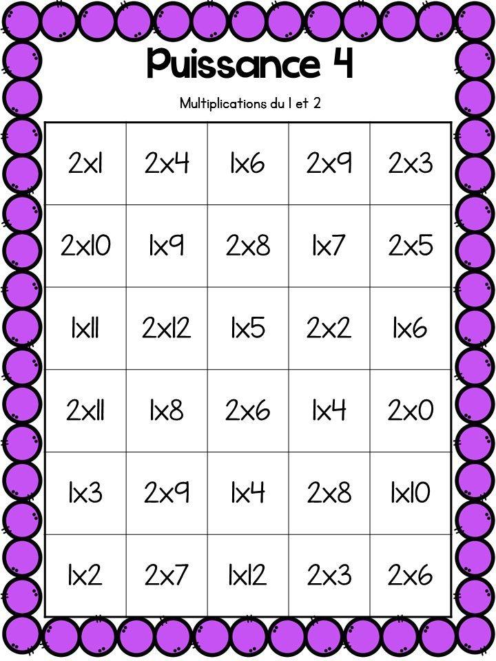 Les 25 meilleures id es de la cat gorie jeux sur les for Multiplication de 3