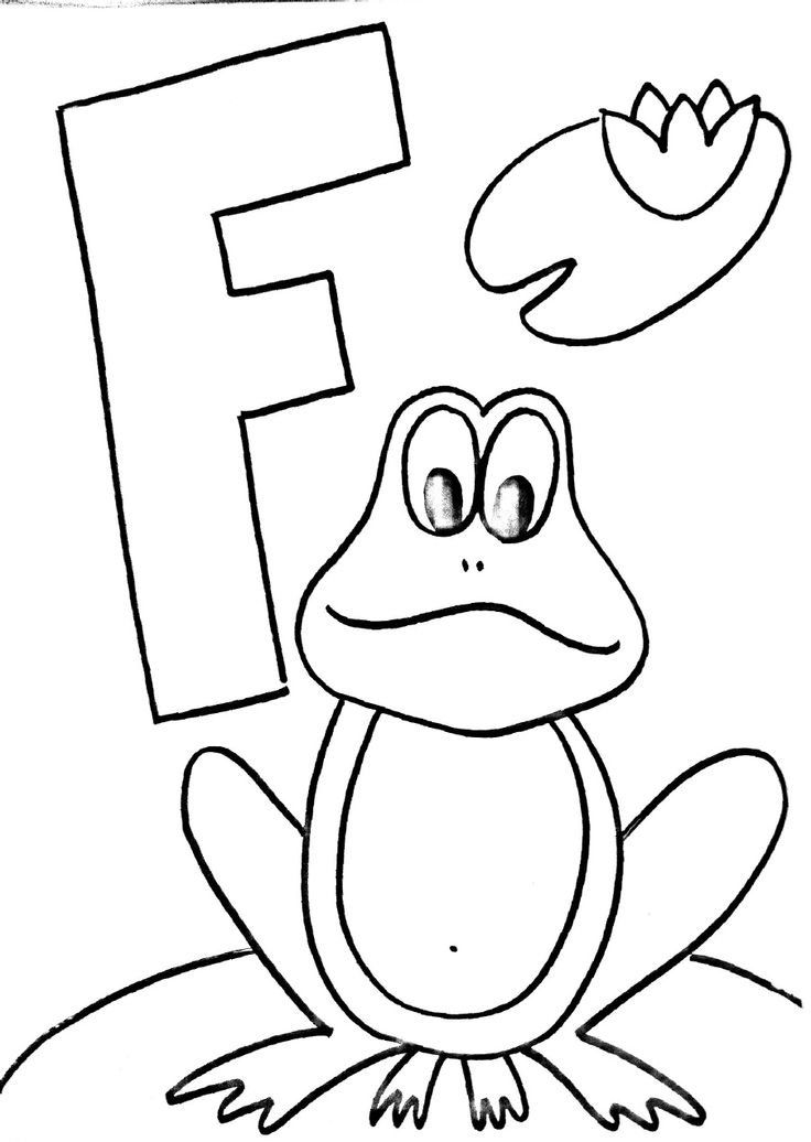 Letter F Coloring Pages Preschool Latin Letters In All Variations In Our Collection Of Coloring Pages