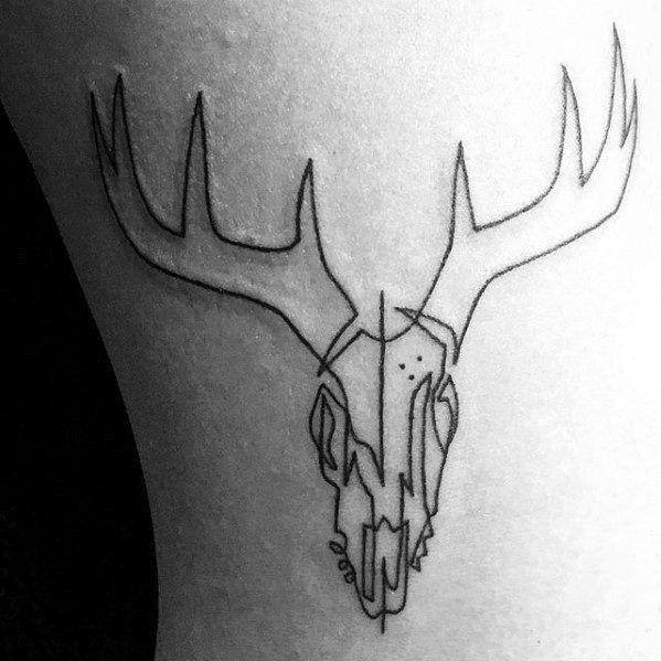 Geometric Deer Skull Tattoo Google Search Animal Skull Tattoos Deer Skull Tattoos Skull Tattoo Design