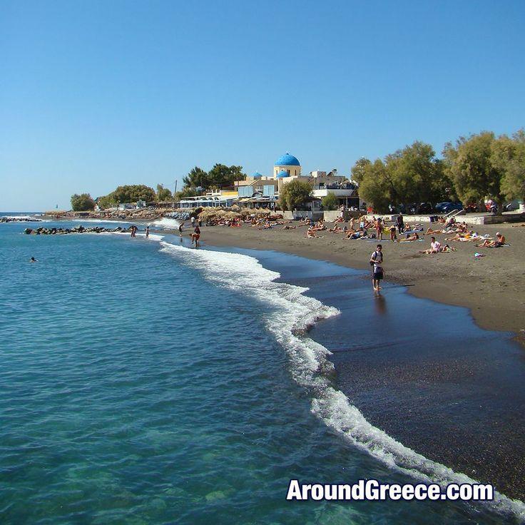 "The ""Black Beach"" of Perissa in Santorini  #blackbeach #Perissa #Santorini #Greece #Greekislands #holidays #travel #tourism #vacations #aroundgreece #visitgreece #Σαντορινη #Ελλαδα #ΕλληνικαΝησια #διακοπες #ταξιδια"