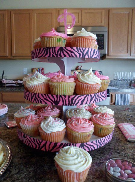 Handmade Cupcake Tower with homemade cupcakes :) Crafts ...