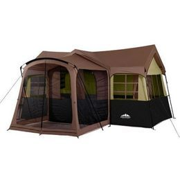 Camping Tent with Screen Porch | Northwest Territory Family Cabin With Screen Porch Tent, 15ft X 16ft ...