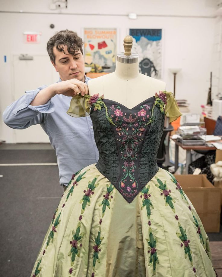 """884 Likes, 17 Comments - Michael Grandage (@michaelgrandage) on Instagram: """"Anna's dress in the talented hands of @djkaley1 as preparations continue @frozenbroadway…"""""""