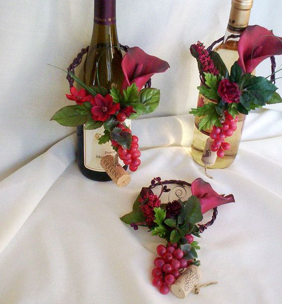 Italian Event Wine Bottle Toppers Decoration by AmoreBride on Etsy