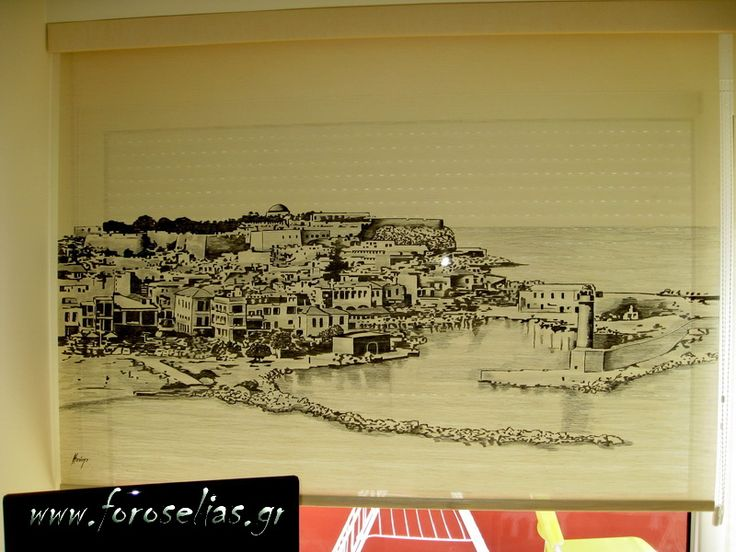 Φιλοτεχνημένο ρόλερ με ζωγραφική στο χέρι απο παλιά γκραβούρα