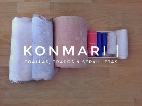 COMO DOBLAR UNA TOALLA (2 METODOS ) MARIE KONDO * how to fold a towel two ways konmari - YouTube
