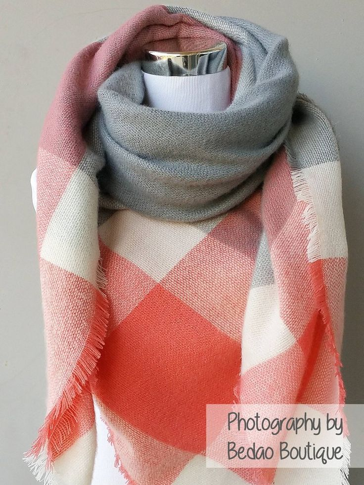 Blanket Scarf Plaid (Gray, Tangerine, White) Everyone's favorite scarf to wear all fall and winter! It's THE trendiest scarf of the season. Gorgeous colors and amazingly soft scarf to keep you cozy and warm. The generous cut offers endless ways to drape, twist, and wrap according to your outfit. These make a wonderful gift for yourself or your loved ones...blanket scarf, plaid scarf, oversize scarf, zara scarf, tartan scarf, blanket scarves