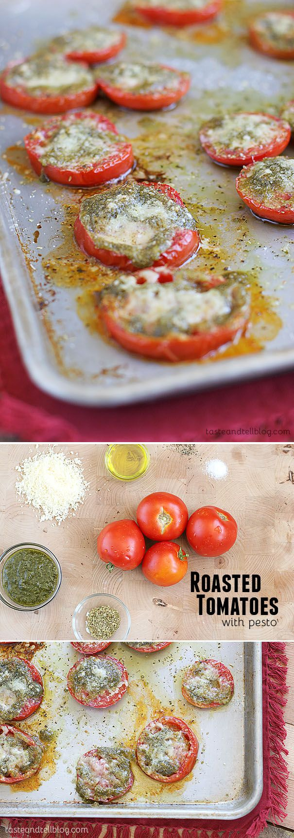 Roasted Tomatoes with Pesto