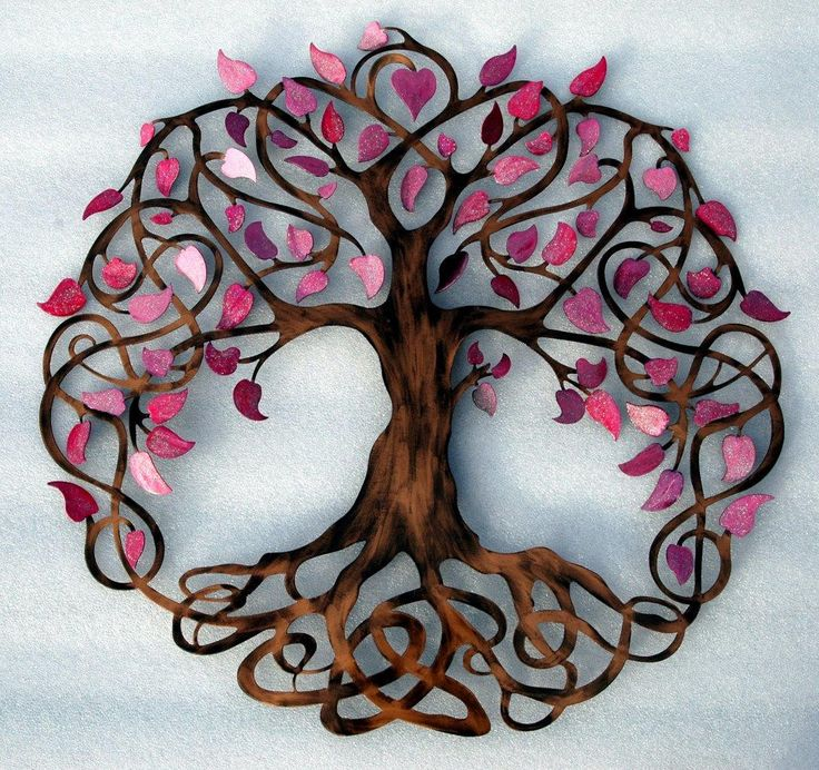 Tree of Life inspiration for appliqué. || Infinity Tree Pink Sparkle – Humdinger Designs.