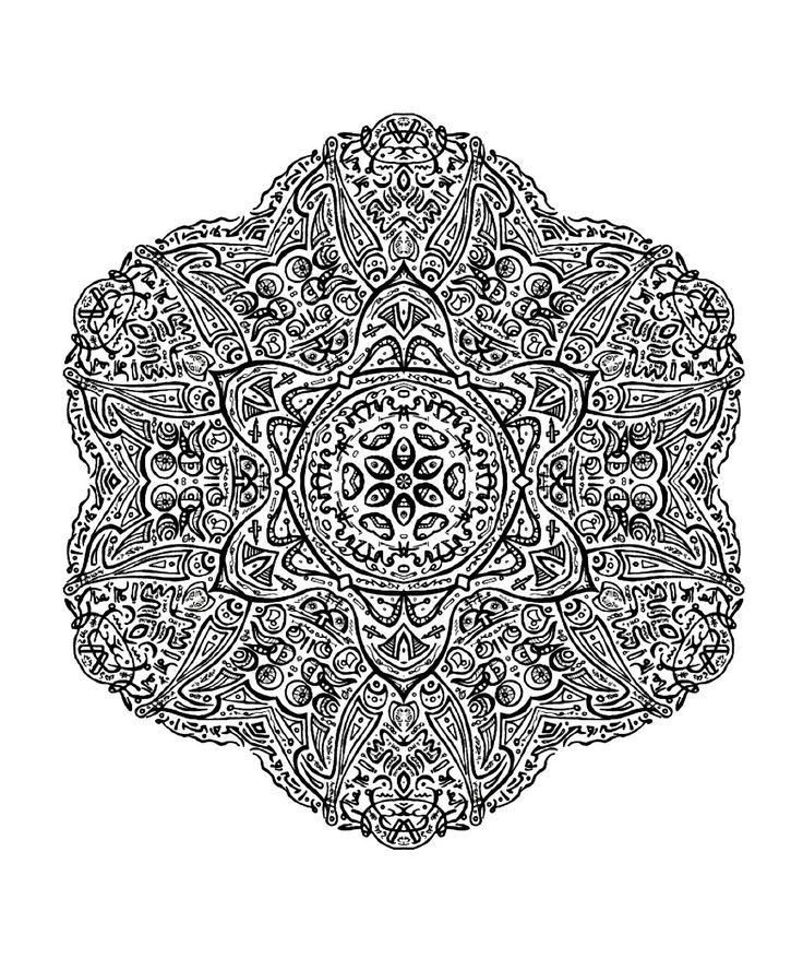 Mandala Coloring Pages Difficult