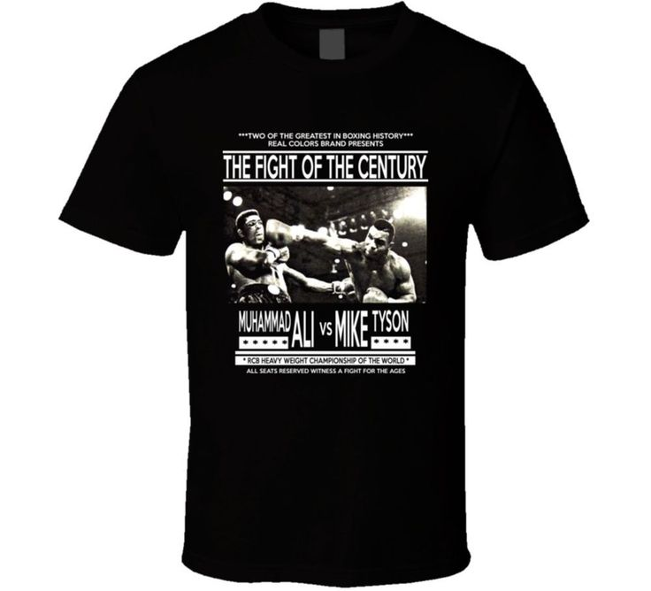 Muhammad Ali Mike Tyson Fight Of The Century Boxing Retro Vintage T Shirt | Clothing, Shoes & Accessories, Men's Clothing, T-Shirts | eBay!