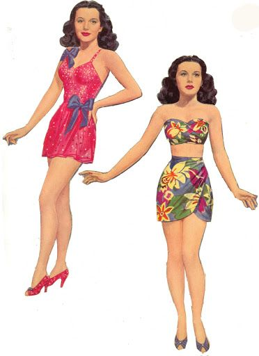 HEDY* 1500 free paper dolls at Arielle Gabriel's International Paper Doll Society for Pinterest paper doll pals *