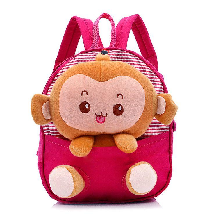 2017 New Cute Kids School Bags Cartoon Bear Dolls Applique Canvas Backpack Mini Baby Toddler Book