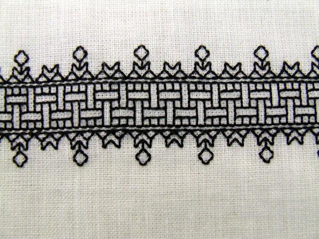16th Century Blackwork Cuffs - NEEDLEWORK