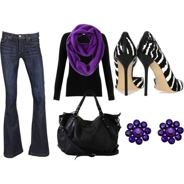 OutfitPurple Zebras Outfit, Zebras Shoes, Purple Outfit, Fashion, Cute Outfits, Black Whit Shoes, Killers Zebras, Beautiful Clothing, Style Ideas