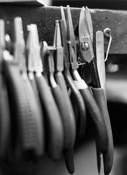 Pliers used by our goldsmiths here in our workshops.   #workshop #repairs #timothyroe