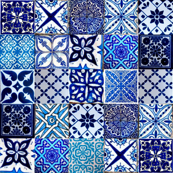 marrakesh moroccan tiles blue                                                                                                                                                                                 More