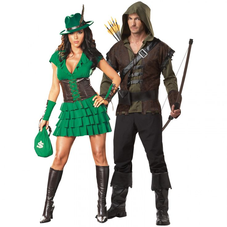 Sexy Couples Halloween Costumes | Robyn da Hood and Robin Hood Couples Costume Image